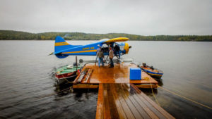 traveling to Canada - float plane at Hawk Air